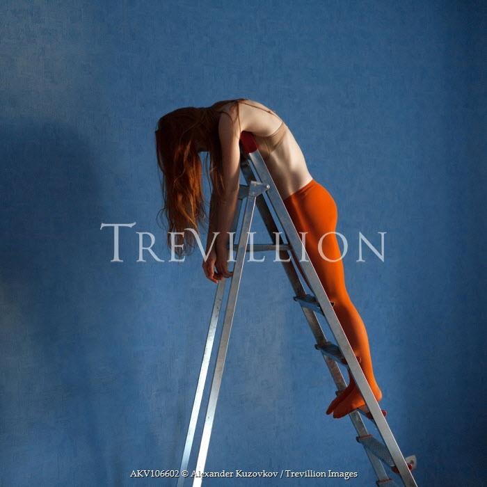 Alexander Kuzovkov Woman laid on ladder Women