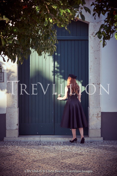 Chris Reeve Retro woman by door Women
