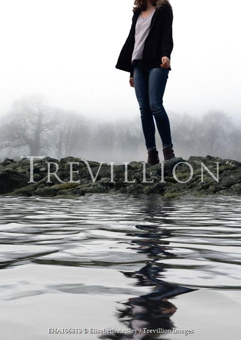 Elisabeth Ansley Woman on rocks by water Women