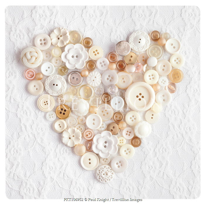 Paul Knight ASSORTED BUTTONS IN HEART SHAPE Miscellaneous Objects