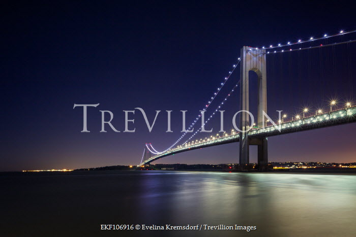 Evelina Kremsdorf BRIDGE OVER RIVER AT NIGHT Bridges