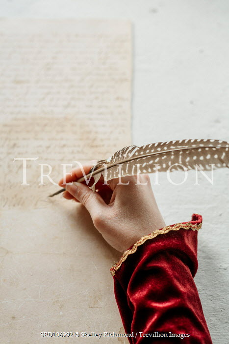 Shelley Richmond HISTORICAL WOMAN WRITING WITH QUILL Women
