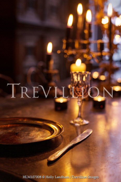 Holly Leedham Historical dinner setting with candles Miscellaneous Objects
