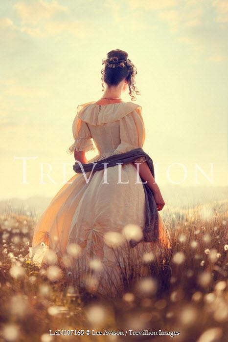 Lee Avison victorian woman amongst cotton grass