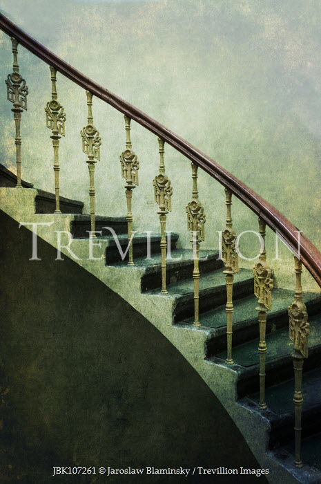 Jaroslaw Blaminsky CLOSE UP OF HISTORICAL DECORATIVE STAIRCASE Stairs/Steps
