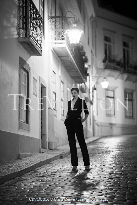 Chris Reeve WOMAN IN TROUSER SUIT IN STREET AT NIGHT Women
