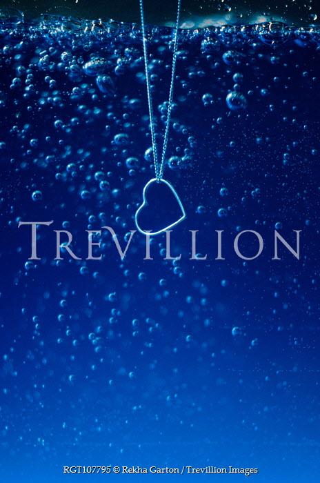 Rekha Garton Heart necklace in blue liquid Miscellaneous Objects