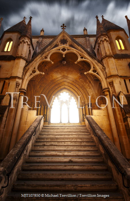 Michael Trevillion Church entrance and blurred sky Religious Buildings