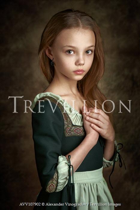 Alexander Vinogradov HISTORICAL GIRL IN TRADITIONAL DRESS Children