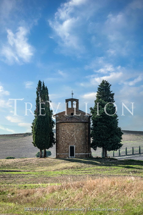 Jaroslaw Blaminsky TUSCAN CHAPEL AND CYPRESS TREES Religious Buildings