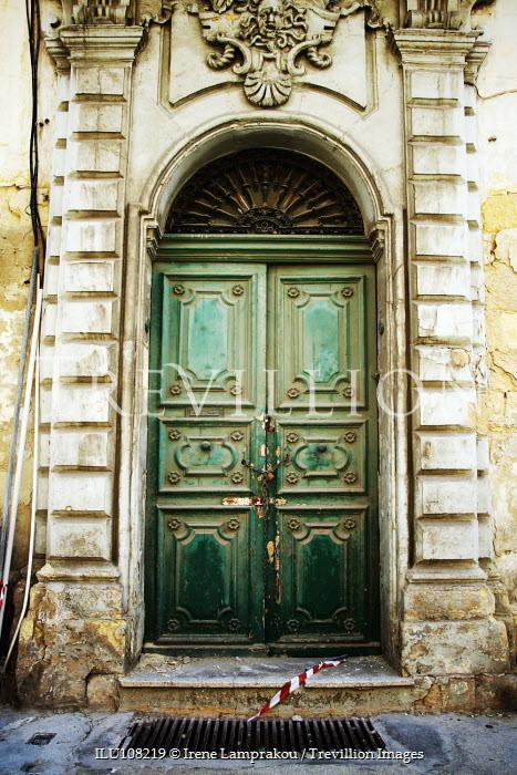 Irene Lamprakou Rustic doorway and no entry tape Building Detail