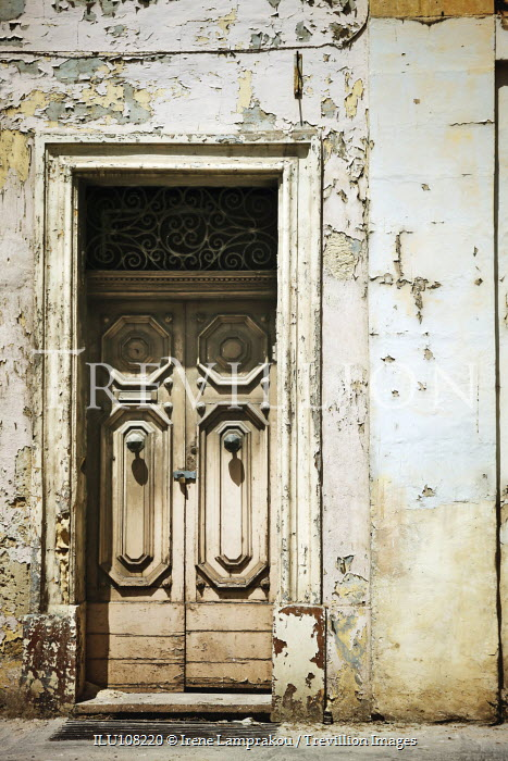 Irene Lamprakou Rustic doorway and peeling paint Building Detail