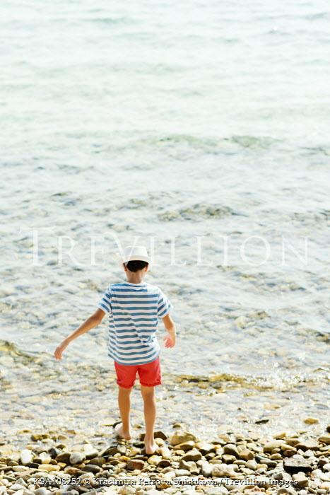 Krasimira Petrova Shishkova boy playing on beach