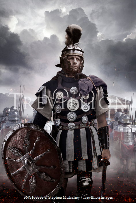 Stephen Mulcahey A roman general  ready for battle Groups/Crowds