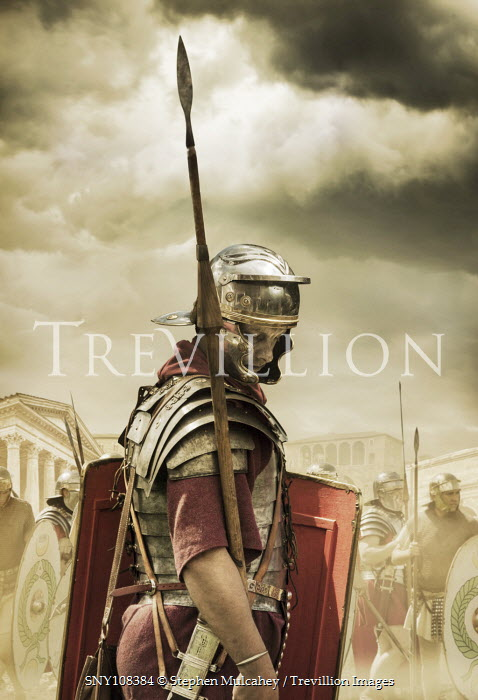 Stephen Mulcahey a roman sentry, awaiting orders Groups/Crowds