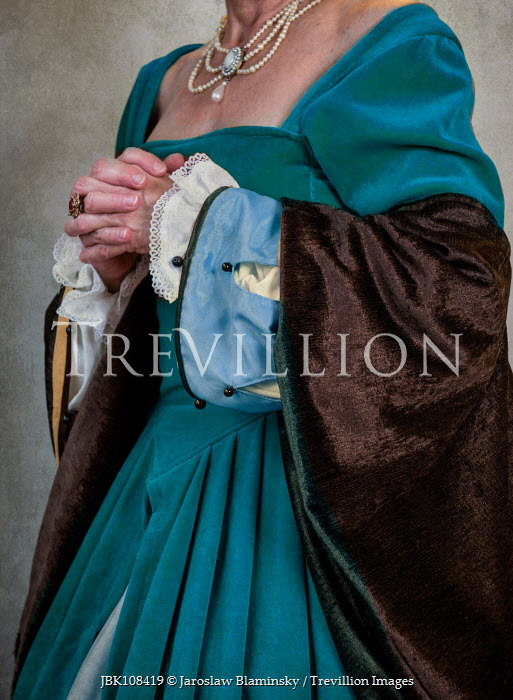 Jaroslaw Blaminsky HISTORICAL WOMAN IN BLUE DRESS Women