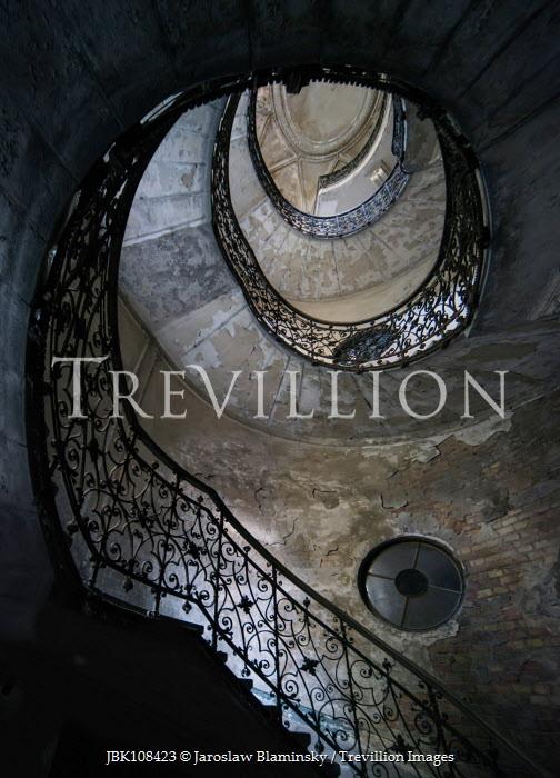Jaroslaw Blaminsky ORNATE DILAPIDATED SPIRAL STAIRCASE Stairs/Steps