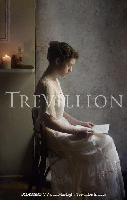 Daniel Murtagh HISTORICAL WOMAN SITTING READING INDOORS Women