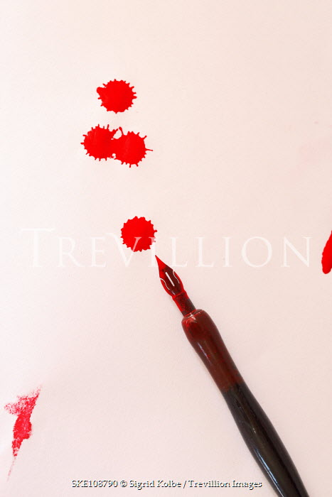 Sigrid Kolbe OLD PEN WITH NIB AND RED INK Miscellaneous Objects