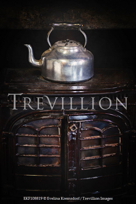 Evelina Kremsdorf Old kettle on a stove Miscellaneous Objects