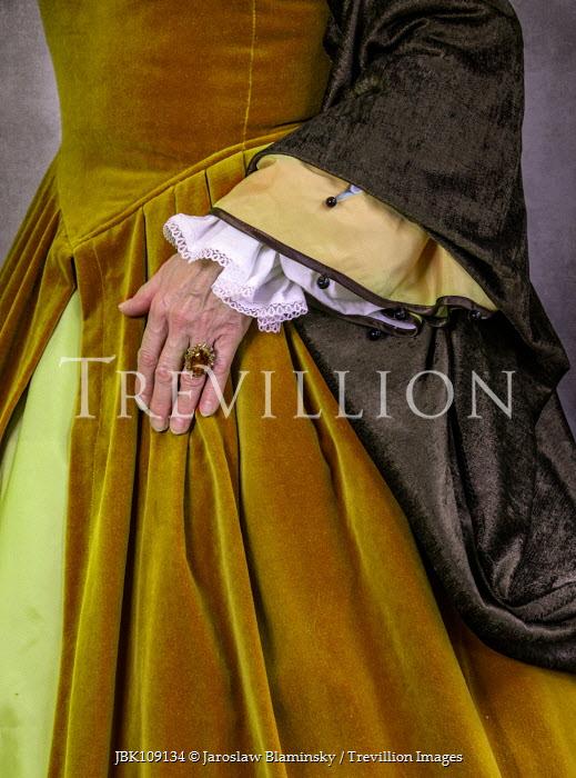 Jaroslaw Blaminsky CLOSE UP OF HAND OF TUDOR WOMAN Old People