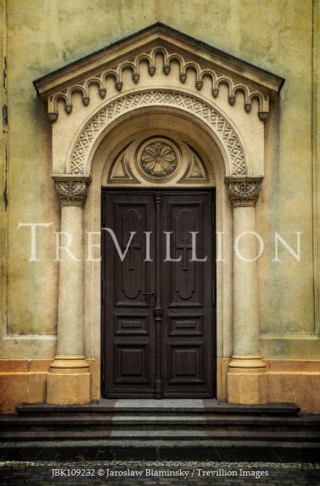 Jaroslaw Blaminsky DECORATIVE DOORWAY OF HISTORICAL CHURCH Religious Buildings