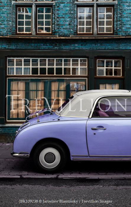 Jaroslaw Blaminsky RETRO CAR OUTSIDE OLD BUILDING Cars