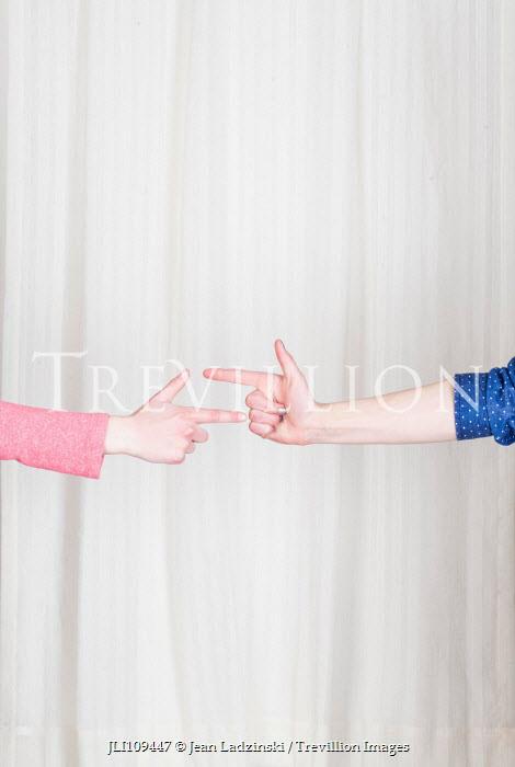 Jean Ladzinski TWO FEMALE HANDS POINTING Women
