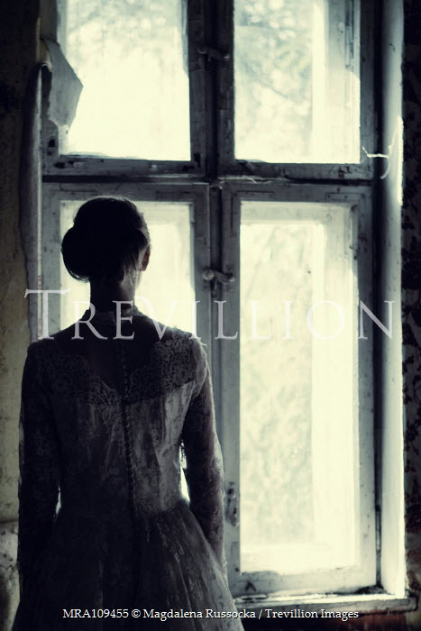 Magdalena Russocka silhouetted historical woman by window