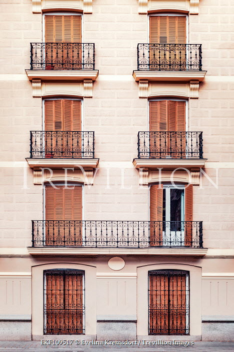 Evelina Kremsdorf Building with balconies and shutter doors Houses