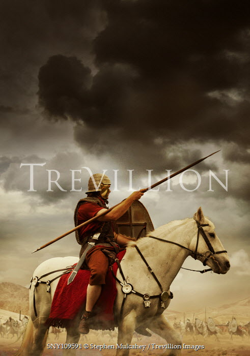 Stephen Mulcahey A roman cavalry soldier horse-riding Men