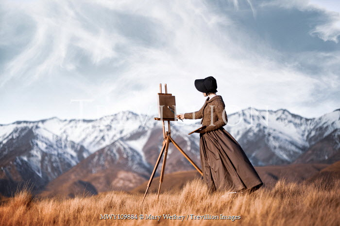 Mary Wethey 19th century woman painting mountains Women