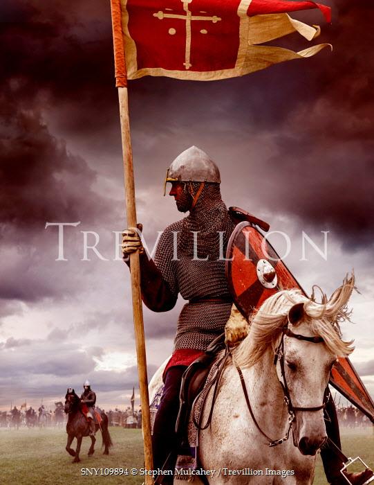 Stephen Mulcahey A medieval cavalry  soldier Men