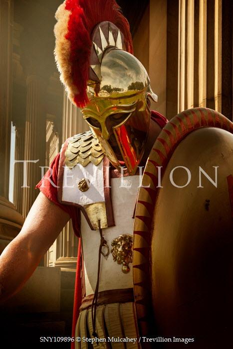 Stephen Mulcahey A close-up  of a spartan warrior Men