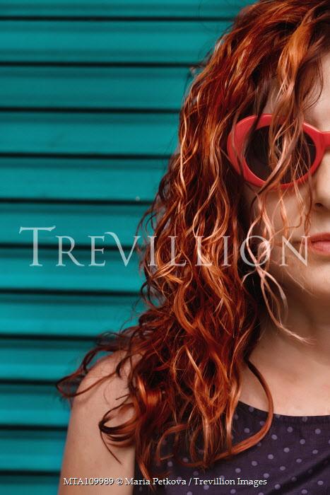 Maria Petkova girl wearing red sunglasses Women