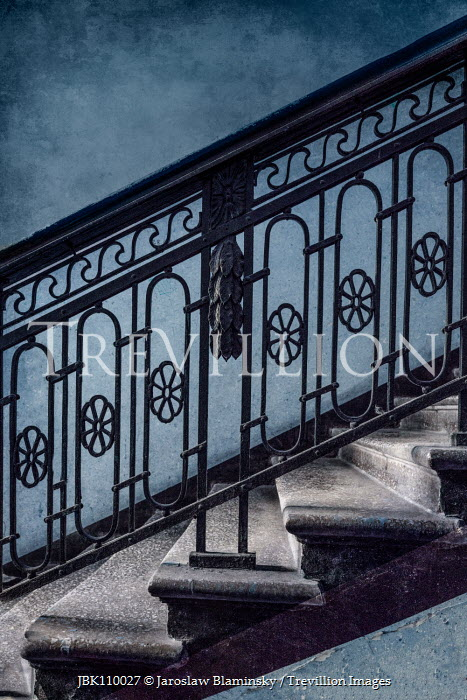 Jaroslaw Blaminsky STAIRCASE WITH DECORATIVE IRON BALUSTRADES Stairs/Steps