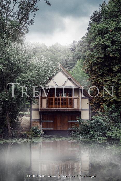 Trevor Payne WOODEN HOUSE BY LAKE Houses
