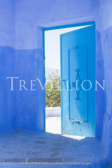 Holly Leedham OPEN DOOR IN BLUE BUILDING Building Detail