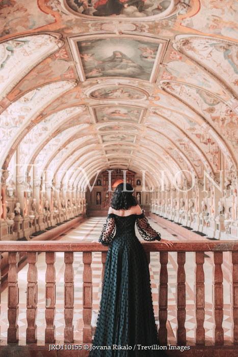 Jovana Rikalo WOMAN IN GOWN INSIDE GRAND PALACE Women