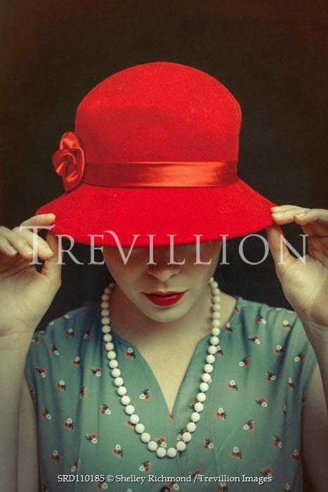 Shelley Richmond RETRO WOMAN IN RED HAT Women