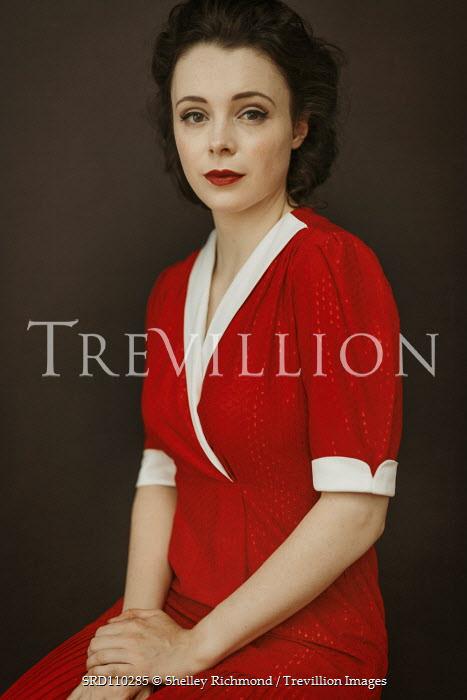 Shelley Richmond RETRO WOMAN IN RED DRESS Women