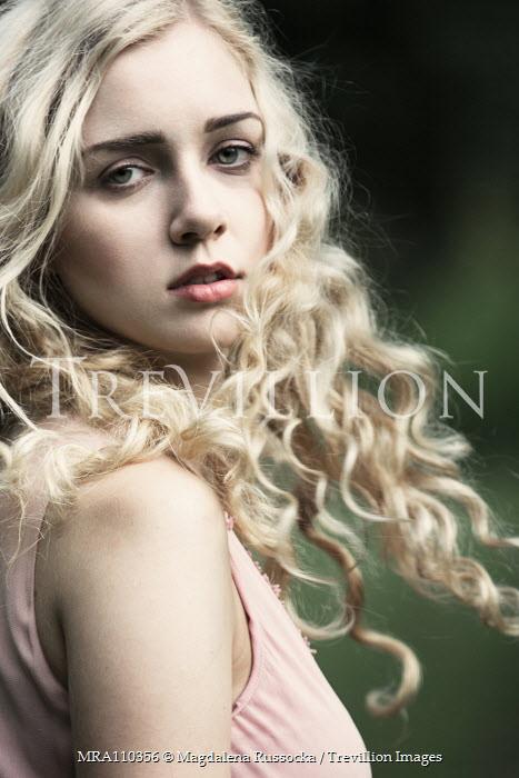 Magdalena Russocka close up blonde retro woman outside