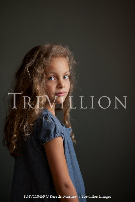 Kerstin Marinov Girl with curly hair Children