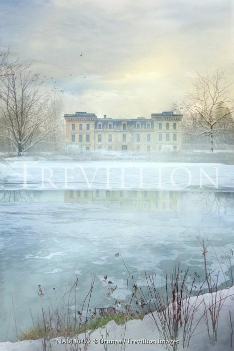 Drunaa Mansion on frozen lake