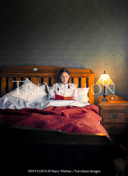 Mary Wethey Teenage girl reading in bed Children