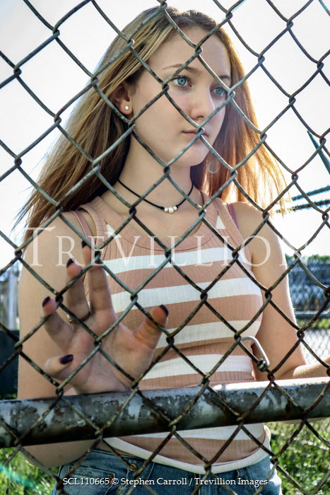 Stephen Carroll TEENAGE GIRL NEAR WIRE FENCE Women