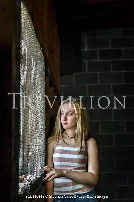 Stephen Carroll TEENAGE GIRL WAITING BY WINDOW Women