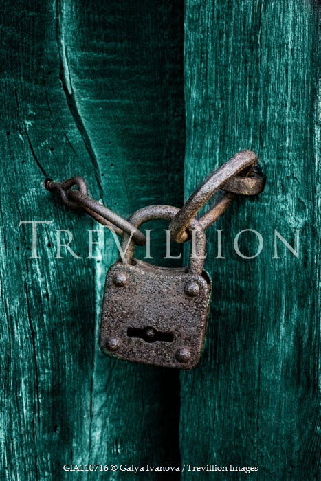 Galya Ivanova LOCKED PADLOCK WITH GREEN GATES Miscellaneous Objects