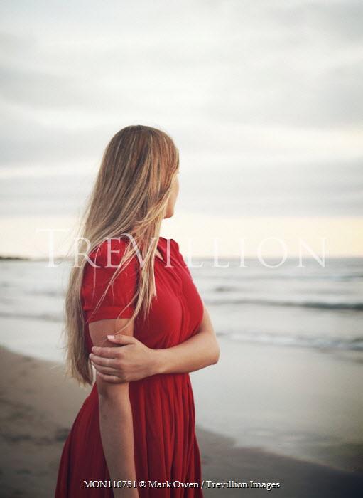 Mark Owen BLONDE GIRL ON BEACH AT DUSK Women