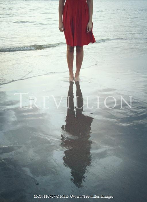 Mark Owen BAREFOOT GIRL STANDING ON SANDY BEACH Women